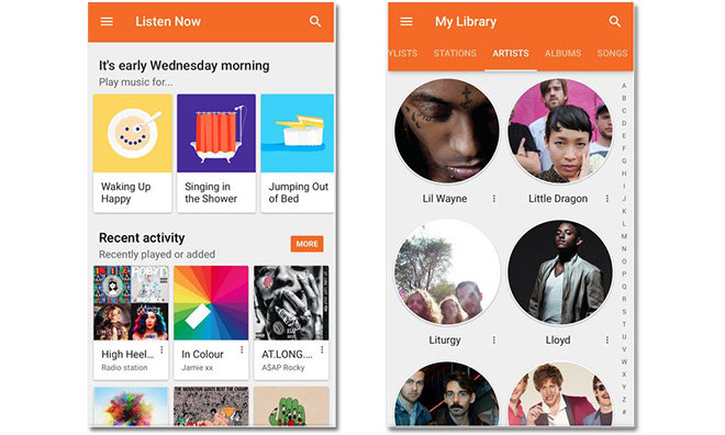 comparison between Apple Music and Google Play Music