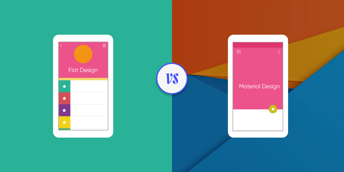 flat and material design