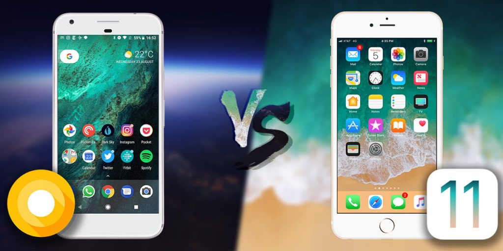 android O vs ios 11