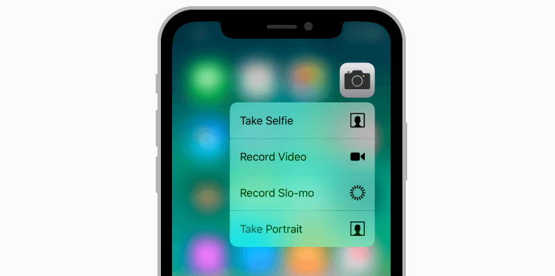 iPhone X 3D touch