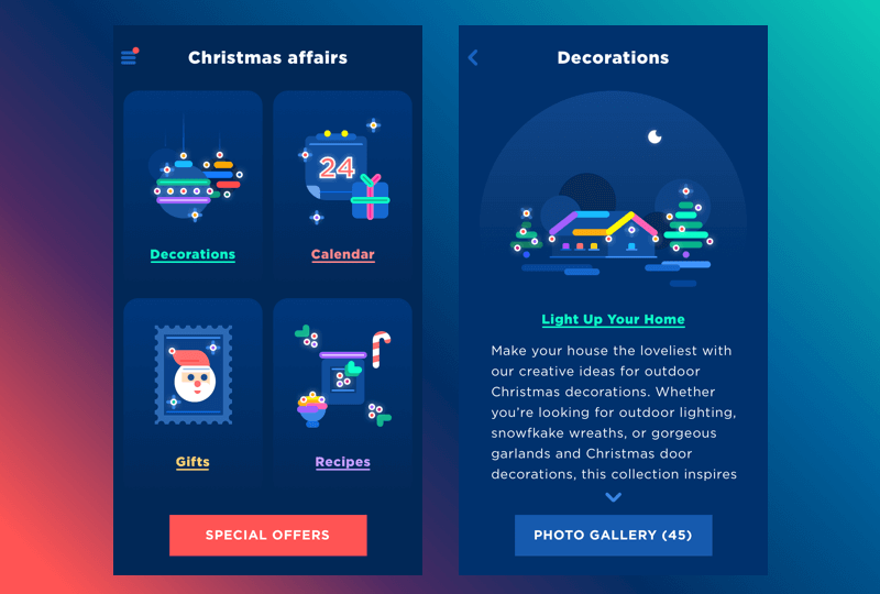 christmas features
