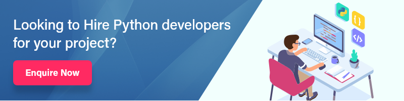 hire python developer banner