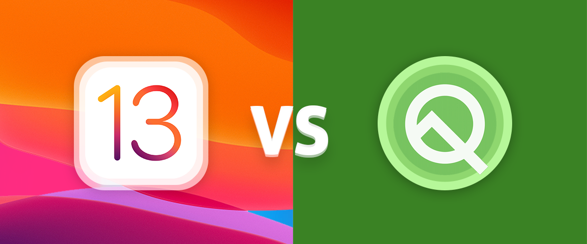 ios13 vs androidQ