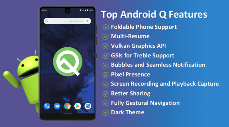 top androidq features